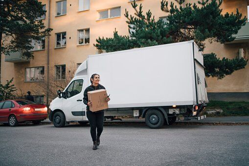 delivery van featuring roll formed parts